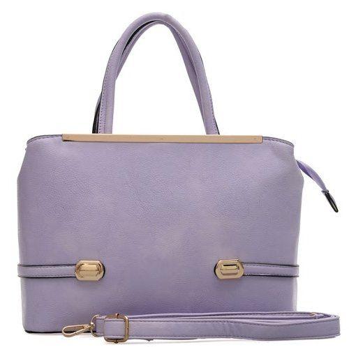 Lilac Purple Faux Leather Tote Shoulder Bag Co Uk Clothing
