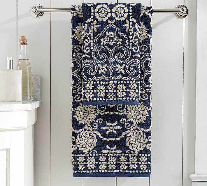 Indah Jacquard Towels Pink Shower Curtains Patterned Bath