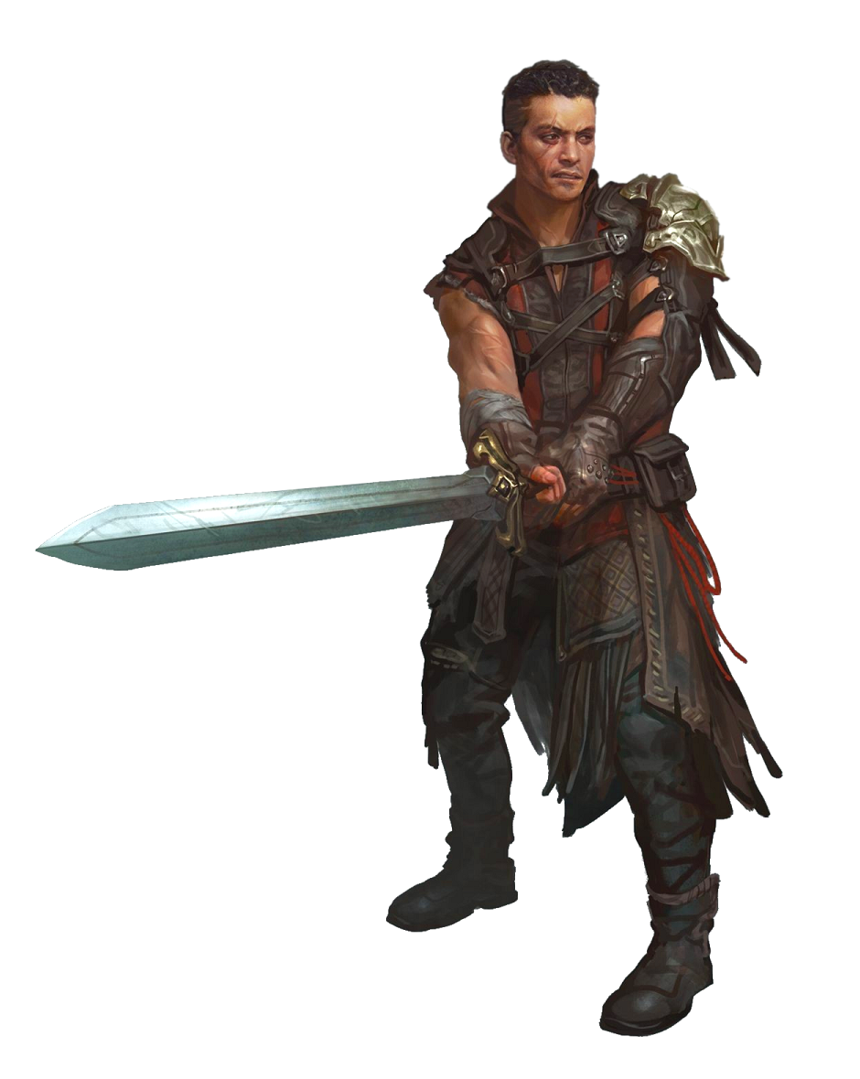 Male Human Greatsword Fighter - Pathfinder PFRPG DND D&D 3.5 5E 5th ed d20 fantasy   Human male ...