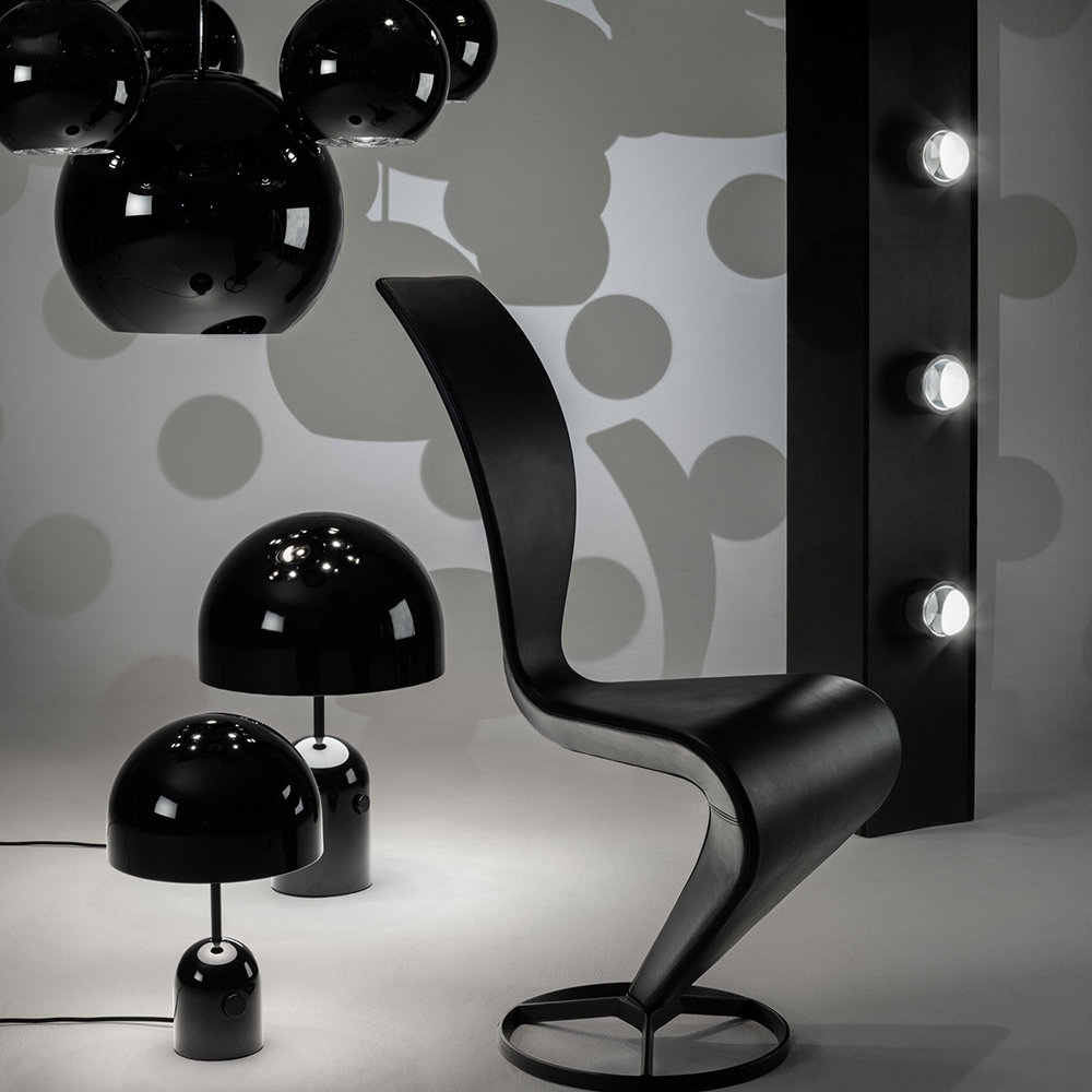 Buy Tom Dixon Copper Black Round Pendant Light 45cm Amara In 2020 Round Pendant Light Table Lamp Black Pendant Lamp