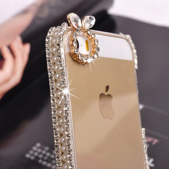 Bling iphone 5 case iphone 4 case iphone 4s case iphone 5s case Crystal iPhone Case Bling iPhone Case gold iphone 5 case clear iphone 5 case