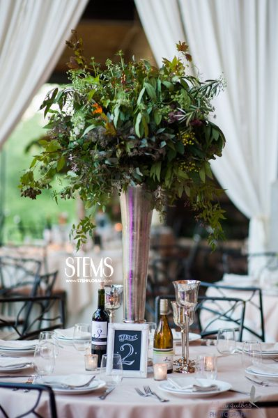 Some Of The Tables Will Feature Tall Cylinder Vases Filled With Birch Branches Bay Laurel Oak