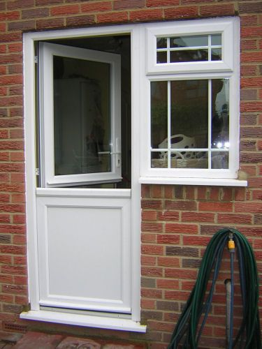 Image result for back door with window other pinterest for Window opening styles