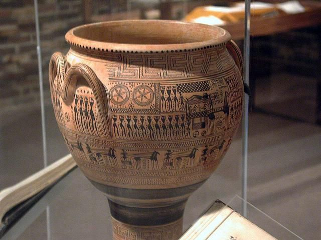 A Replica Of An Ancient Egyptian Urn One The Earliest Examples Cryptography