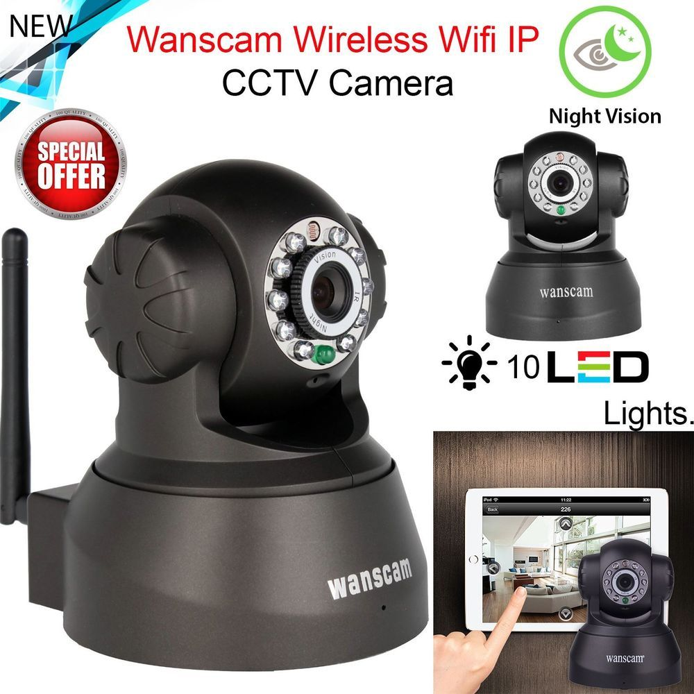 Wireless Ip Cctv Wifi Camera Security Network Ir Night Vision Monitor Cam Uk Wifi Camera Wireless Security System
