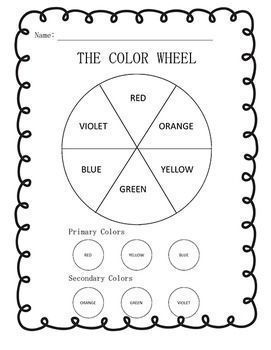 color wheel color mixing worksheets in english and spanish secondary color color wheels and. Black Bedroom Furniture Sets. Home Design Ideas