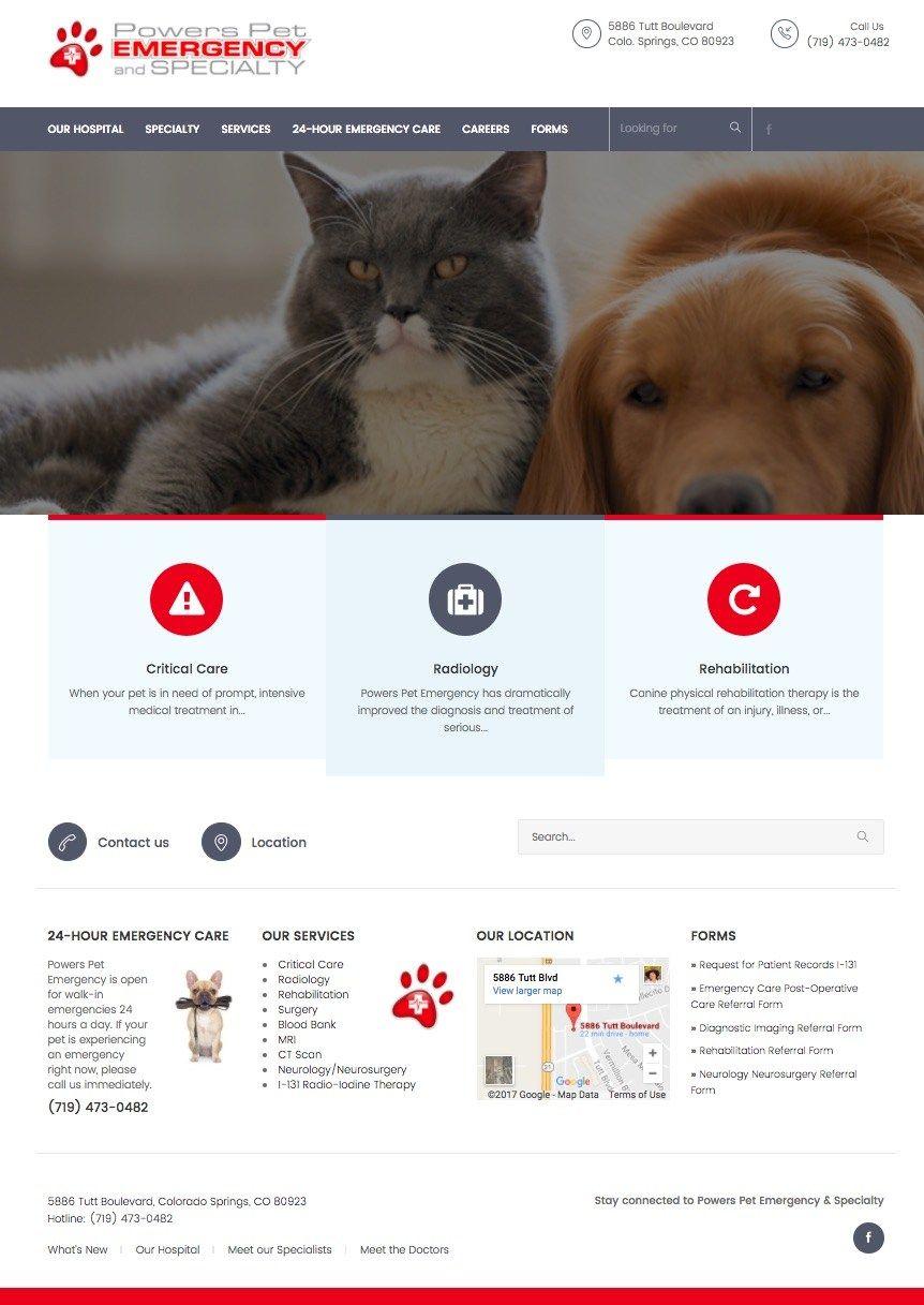 Powers Pet Emergency Pets, Emergency care, Wordpress