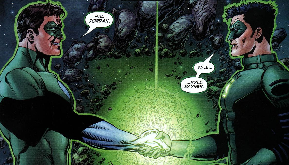 Hal and Kyle properly meet. Green Lantern Rebirth (With