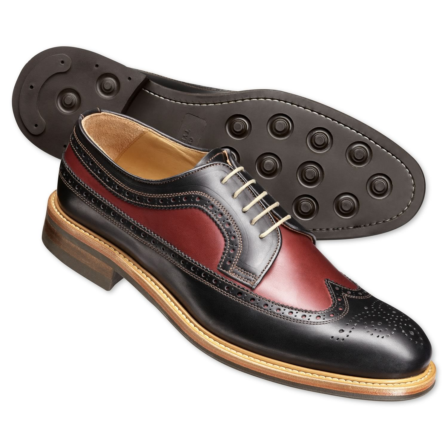 black two tone brogue shoes men 39 s casual shoes from. Black Bedroom Furniture Sets. Home Design Ideas