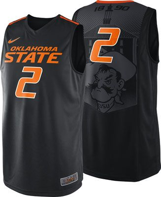 e999d768fd5c Oklahoma State Cowboys Black Nike On Court Basketball Jersey  osu   oklahomastate  cowboys