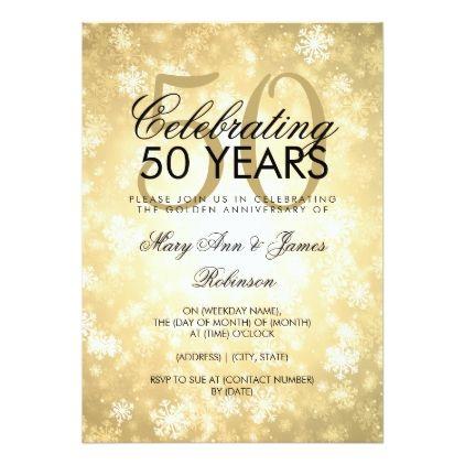 50th Wedding Anniversary Winter Wonderland Gold Invitation Zazzle Com In 2020 50th Wedding Anniversary 50th Wedding Anniversary Invitations 50th Anniversary Invitations