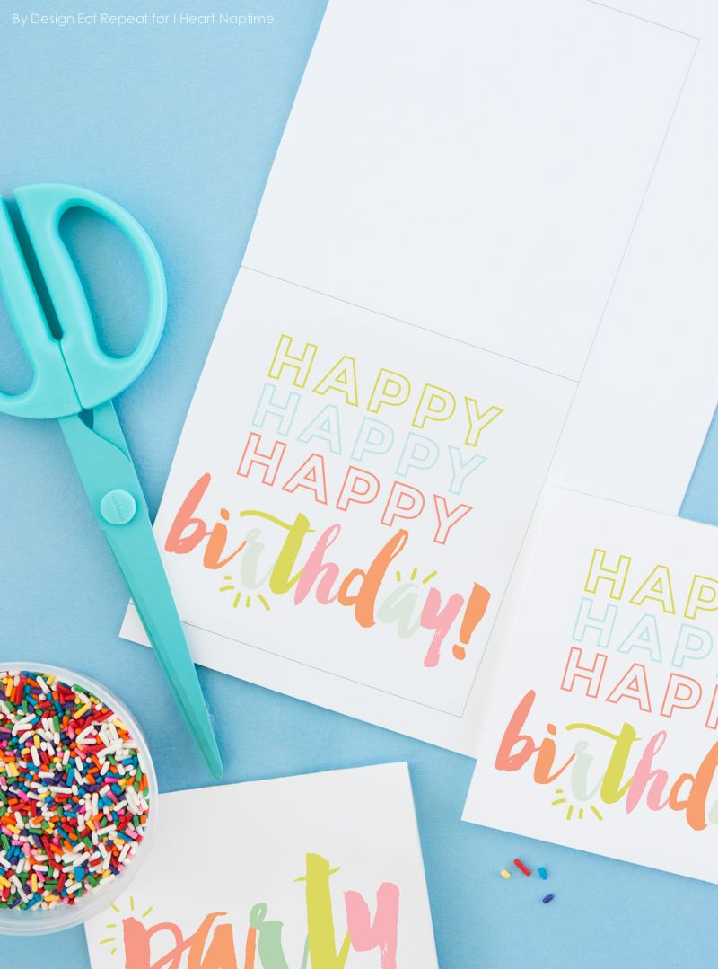 Happy Birthday Card Templates Free Magnificent Free Printable Birthday Cards On Iheartnaptime  Printables .