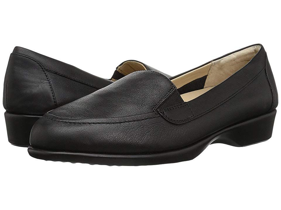 Hush Puppies Jennah Paradise Black Leather Women S Slip On Dress Shoes The Simplicity Of A Leat Hush Puppies Shoes Women Slip On Dress Shoes Leather Loafers
