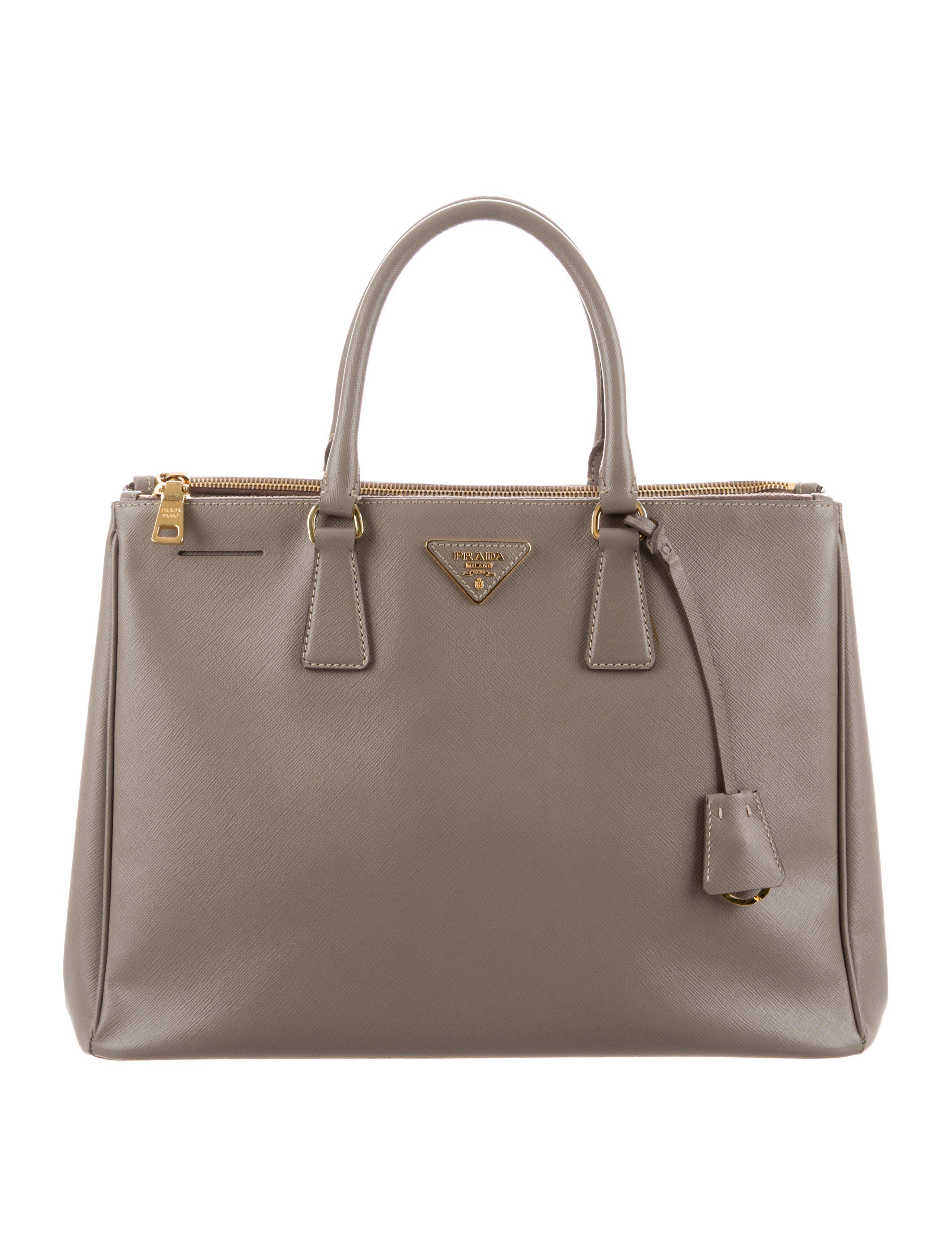9969842a3429 Granito Saffiano leather Prada Saffiano Lux Large Galleria Double Zip Tote  with gold-tone hardware