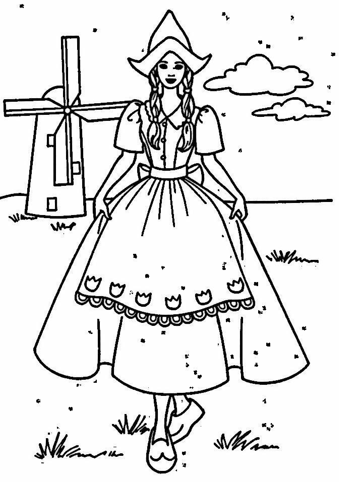 Dibujos para Colorear Barbie 17 | Dibujos para colorear para niños ...