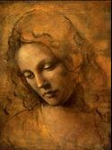 """The painting of Drew Barrymore as Cinderella in """"Ever After"""" Leonardo da Vinci style"""