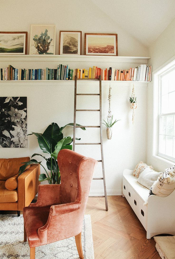 Photo of DIY picture ledge + bookshelf. | In Honor Of Design