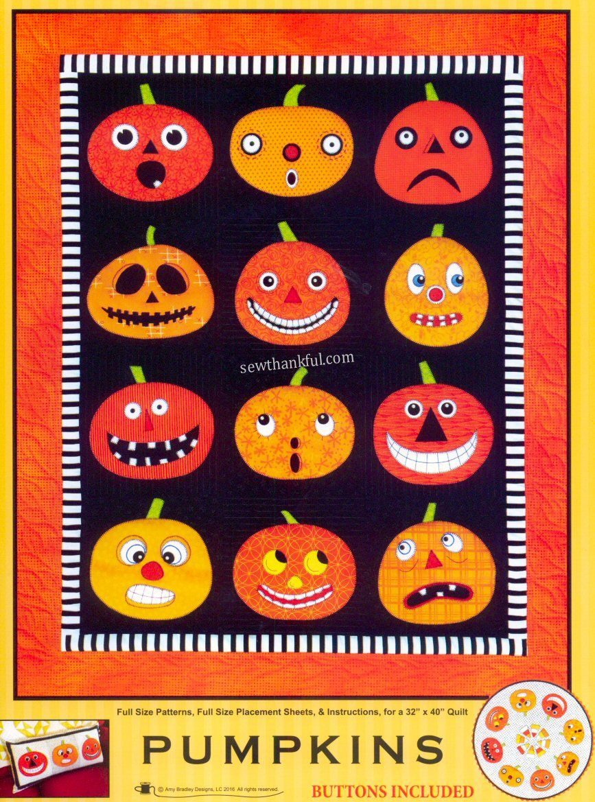 INVENTORY REDUCTION...Pumpkins - quilt pattern by Amy Bradley Designs