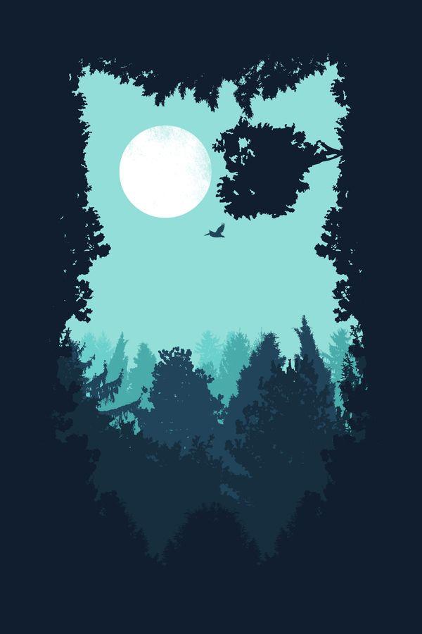 Winter Owl Art Print by filiskun