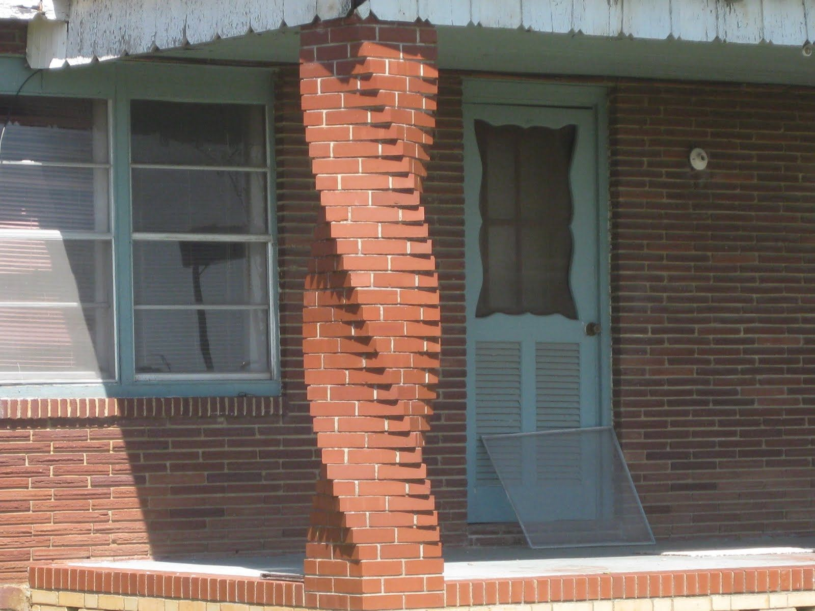 Twisted Brick Pillar Amazing But Too Over The Top For Our