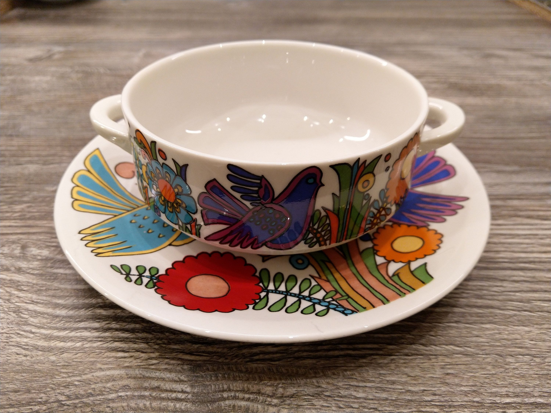 Suppentasse Untere Set V B Acapulco Vintage Villeroy Boch Etsy Villeroy Boch Tableware West German Pottery