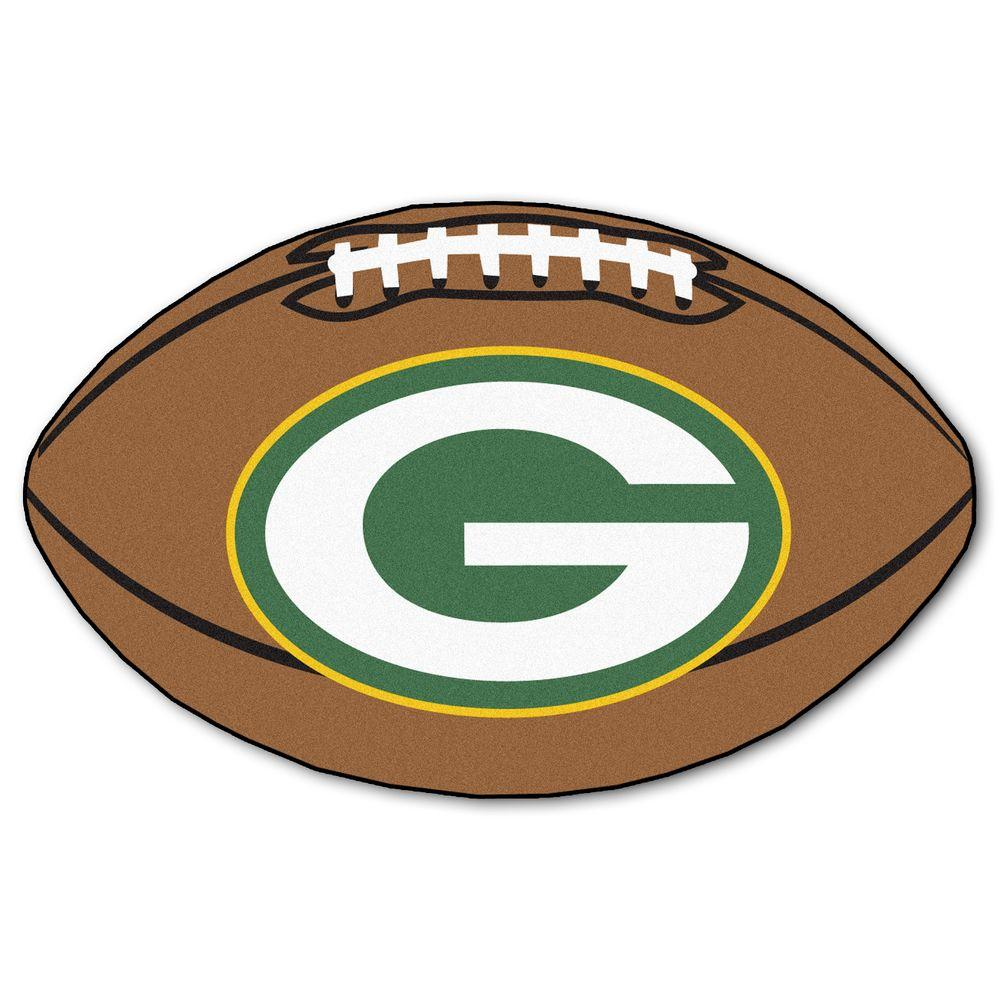Fanmats Nfl Green Bay Packers Photorealistic 20 5 In X 32 5 In Football Mat 5755 Nfl Green Bay Packers Football Green Bay Packers Fans