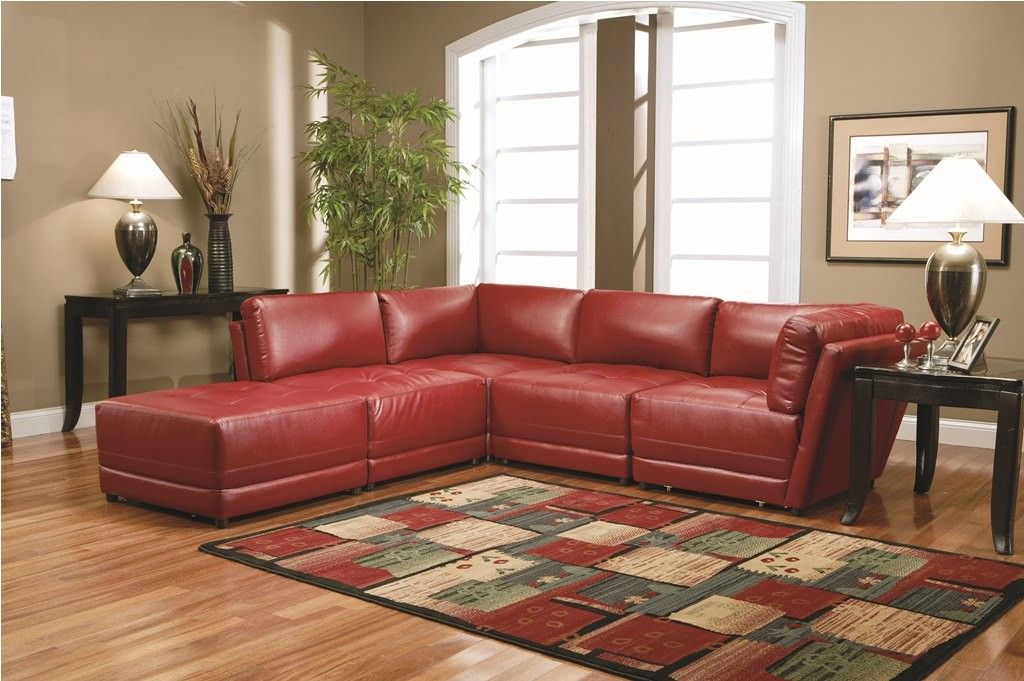 Red Modular Sectional
