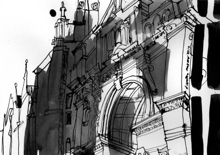 "Saatchi Art Artist dorothy Patricia Megaw; Drawing, ""Oxford Examination School"" #art"