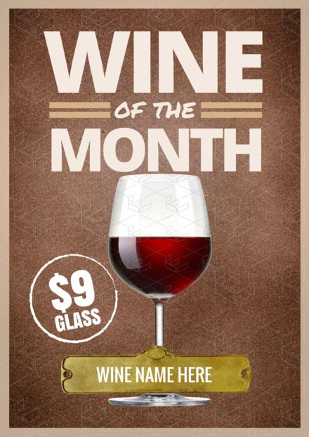 cd083fcfe3f DIY Drinks Templates - Cocktails, Drinks, Coffee and More - Wine of the  Month template (poster template) - Made in Easil.