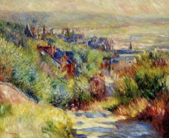 The Hills of Trouville via Pierre-Auguste Renoir  Medium: oil on canvas