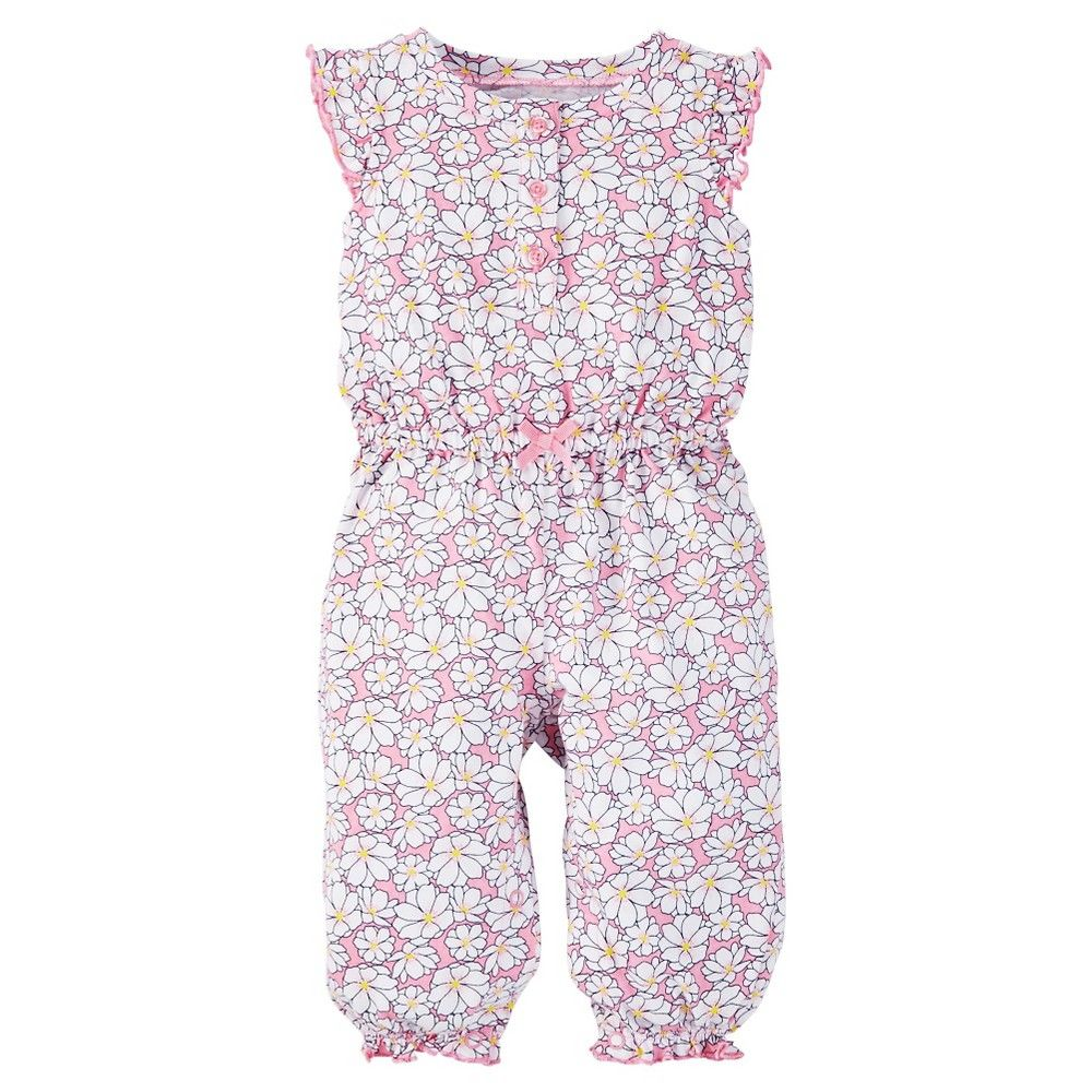 47233e69c Just One YouMade by Carter s Baby Girls  Floral Jumpsuit - Pink ...