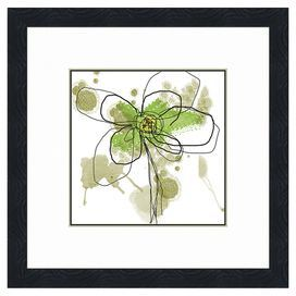 "Wall art with watercolor-style floral motif. Made in the USA.   Product: Wall art Construction Material: Acid-free paper, glass and natural wood frame    Features: Brings color to any wall of your home      Dimensions:  Unframed: 16"" H x 16"" W x 0.1"" DFramed: 22 H x 22 W x 1"" D"
