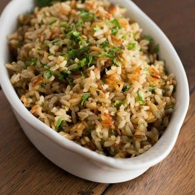 Baked Brown Rice #seasonedricerecipes