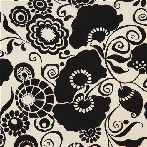 off-white Alexander Henry black flower fabric Marchesa 1
