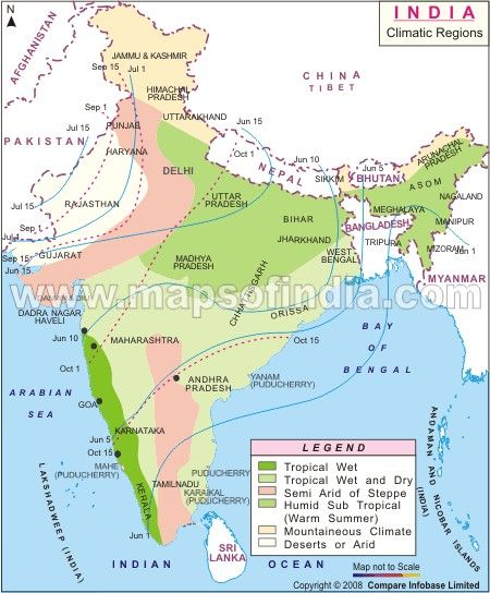 Climate Map of India | My India | Pinterest | India map, India and Map