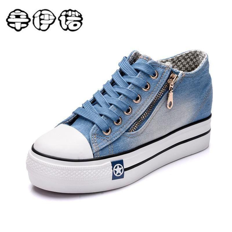 Blue Fabric Casual Shoes For Girls