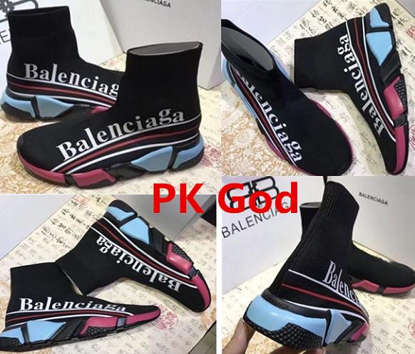 Balenciaga Speed Trainer Sneakers stretch-knit three logo black Multicolour  Knit Sock Coloured PK God