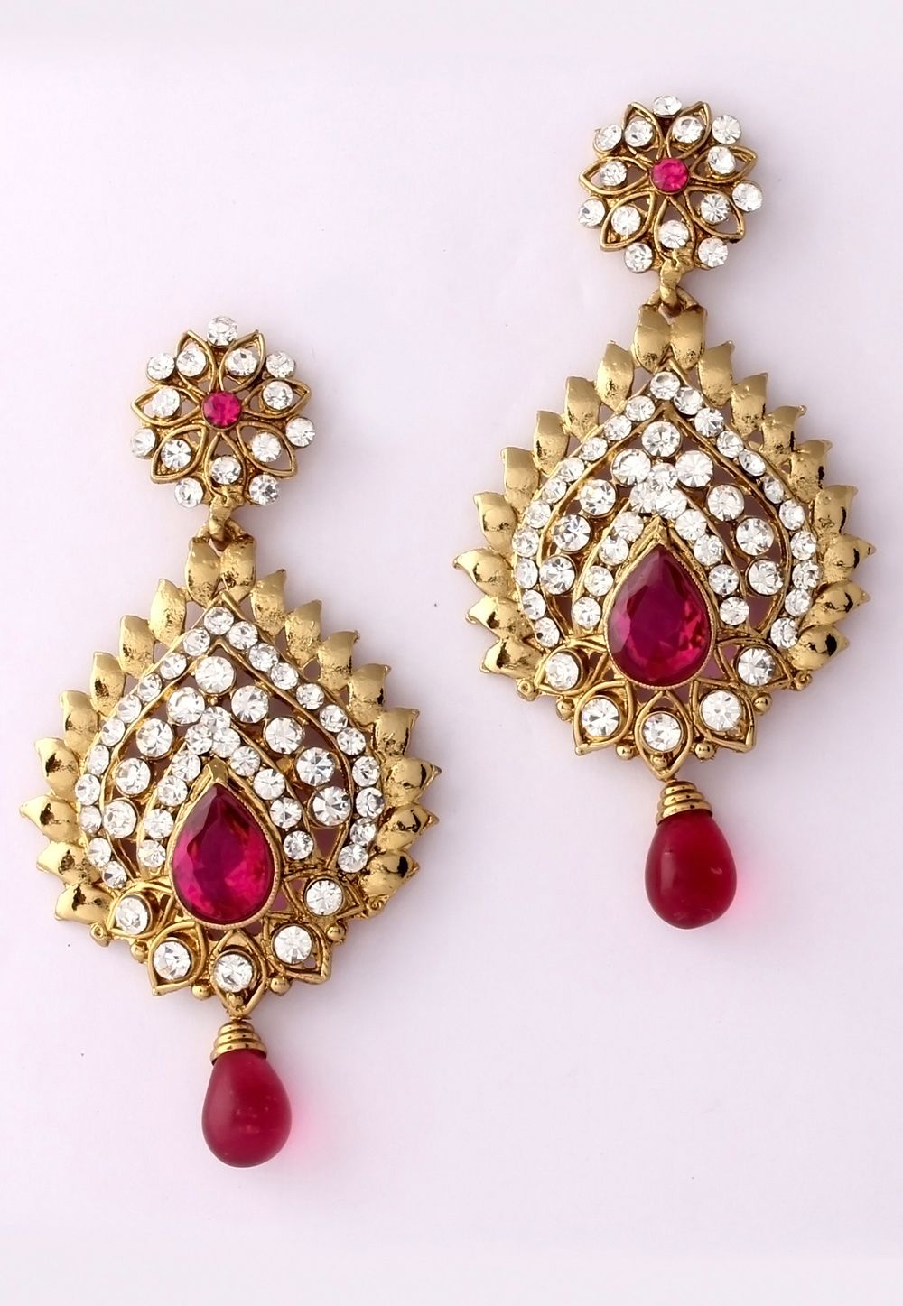 white store huge earrings jewelry product hiralal coloured stone