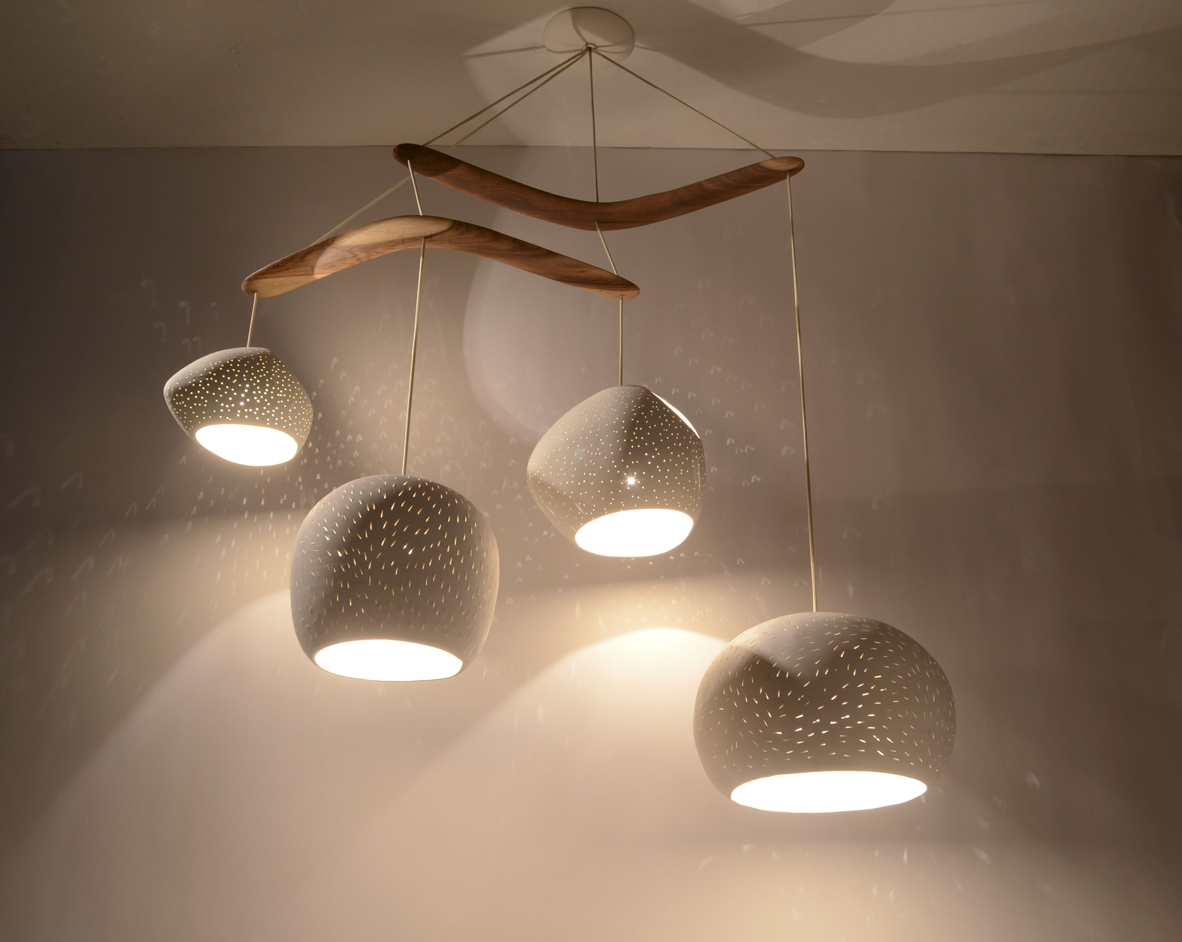 Claylight boomerang ceramic chandelier for the home pinterest claylight boomerang ceramic chandelier arubaitofo Choice Image