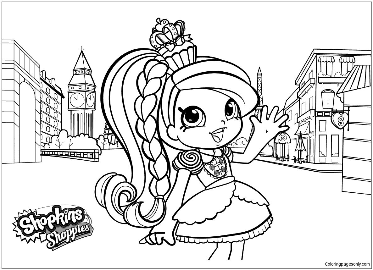 Shoppies Shopkins Coloring Page Shopkins Colouring Pages