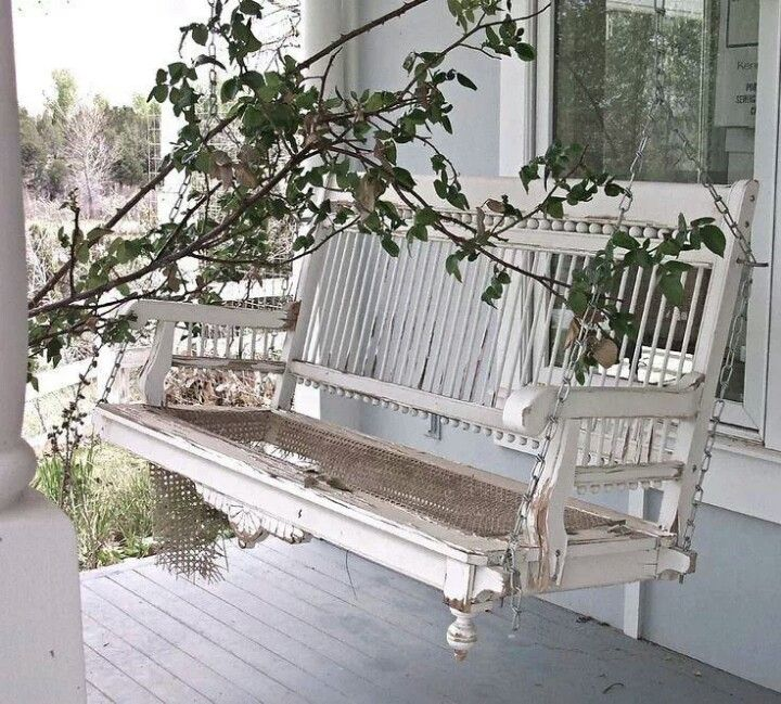 Beautiful Old Porch Swing Porch Swing Country Porch White Porch
