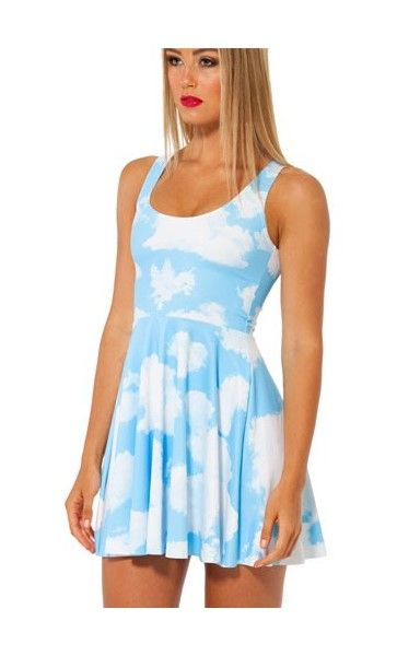 Black Milk Clouds Reversible Skater Dress - LIMITED