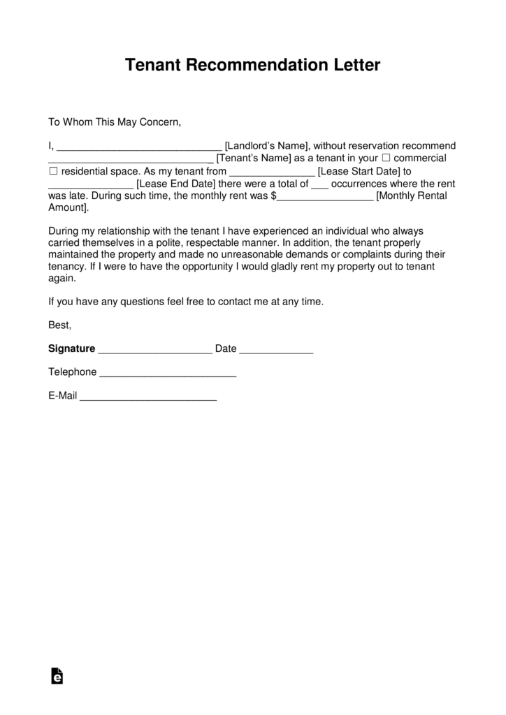 Reference Letter From Landlord Example from i.pinimg.com