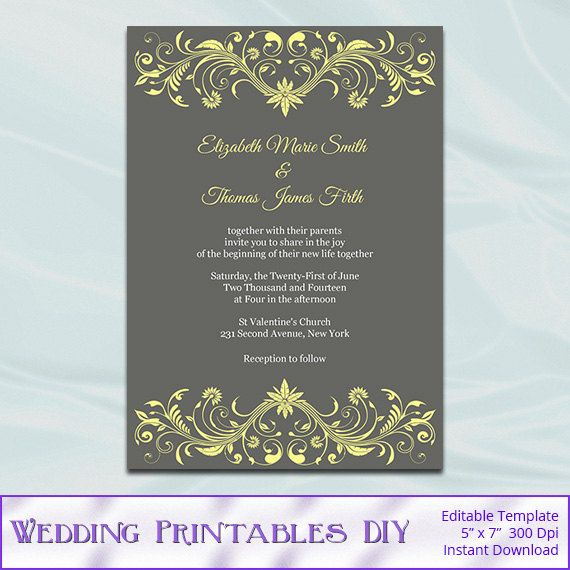 Hey, I found this really awesome Etsy listing at    wwwetsy - download invitation card