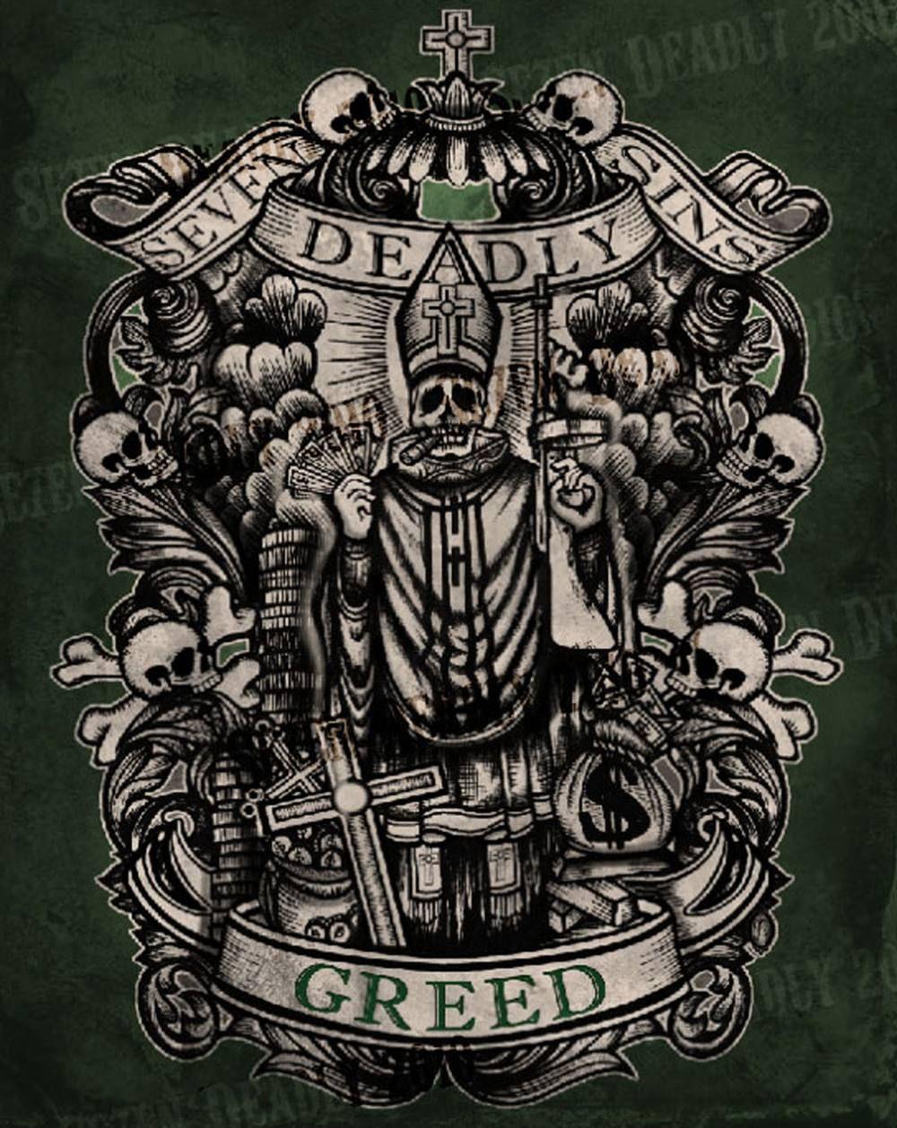 Se7en Deadly Deadly Greed Print 11x14 Outgoing Pinterest