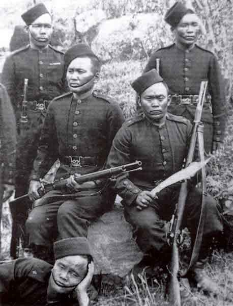 As well as Africans and Caribbean soldiers, there were also Asian