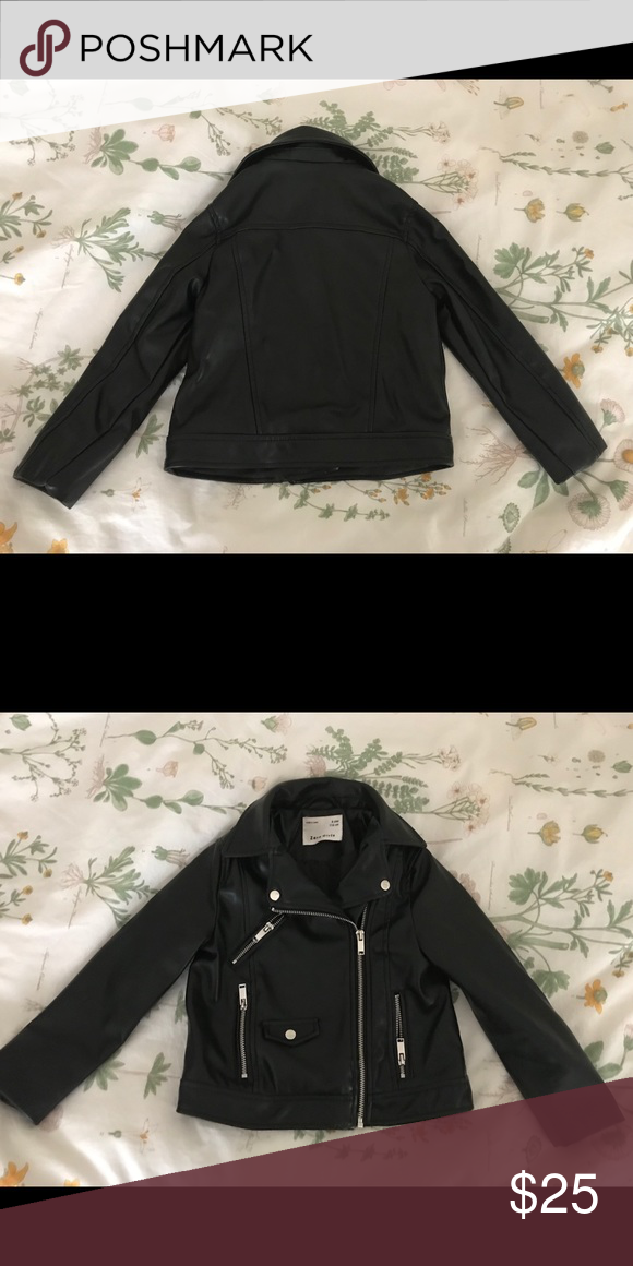 c6d71128 ZARA Girls size 6-7 Faux Leather Moto/Biker Jacket Adorable! Never worn