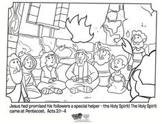 Pentecost Coloring Page Pentecost Bible Coloring Pages