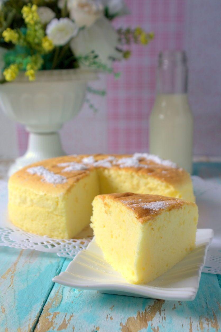 Japanischer Soufflé-Käsekuchen mit nur drei Zutaten #japanischerkäsekuchen