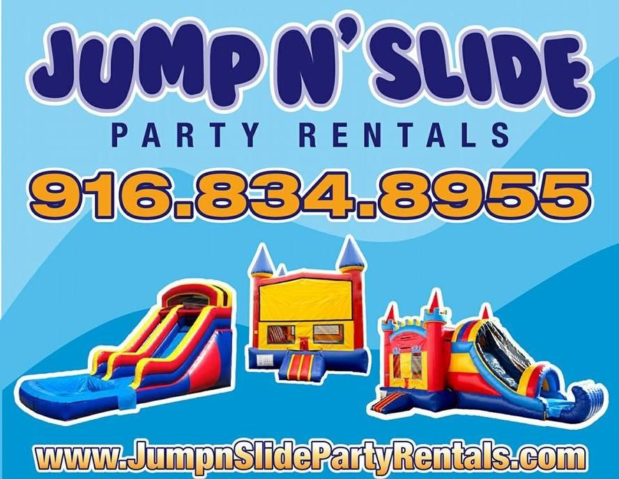 Bounce house rentals and slides for parties in sacramento